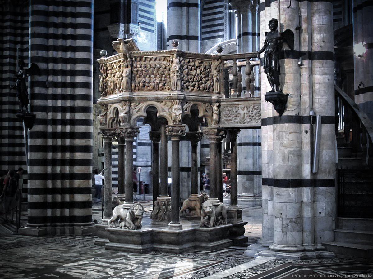 Cadeira da Catedral de Siena - Cadeira de Nicola Pisano, Catedral de Siena (Santa Maria Assunta)