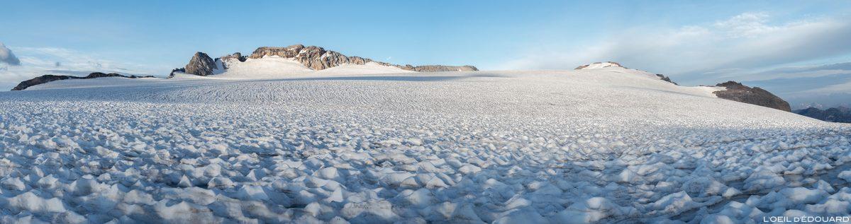 Montanhismo: a geleira Roche Ferran com Mont Pelve e Pointe du Dard, Maciço de la Vanoise