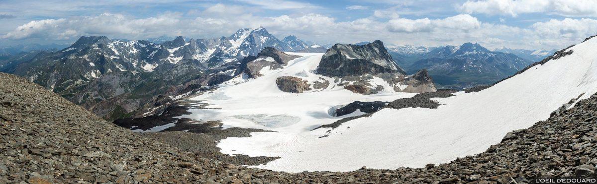 Maciço de Vanoise com as geleiras de Vanoise