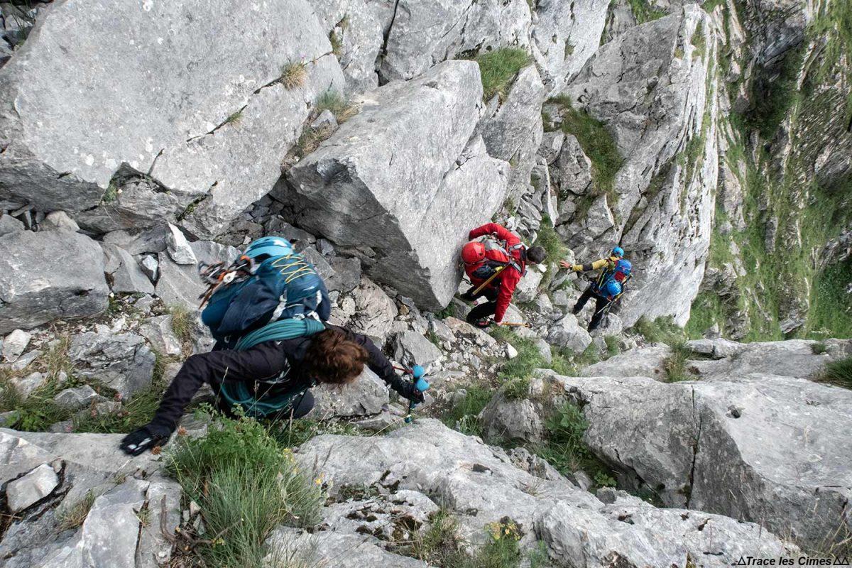 O Pas de l'ne acima de Pralognan-la-Vanoise, Maciço de la Vanoise