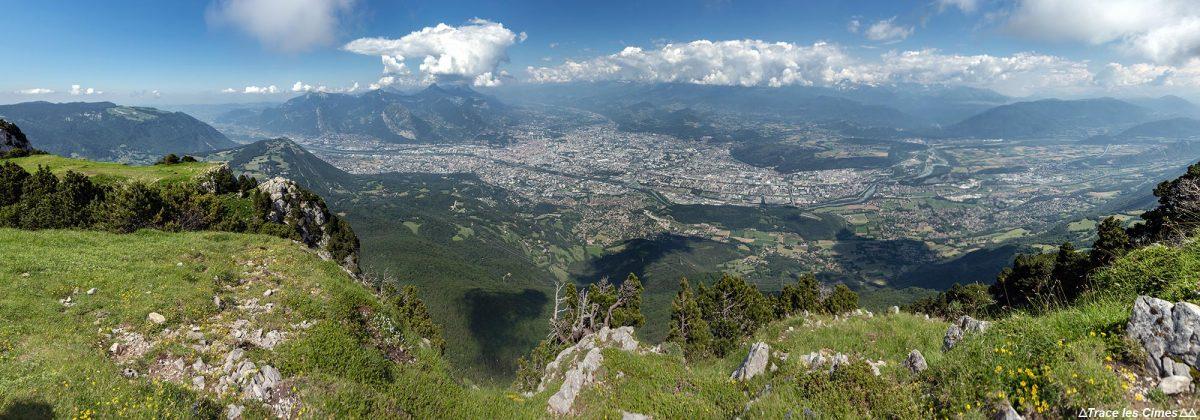 Panorama de Grenoble de Le Moucherotte