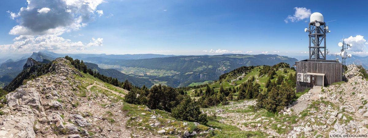 Planalto do Vercors do topo do Moucherotte