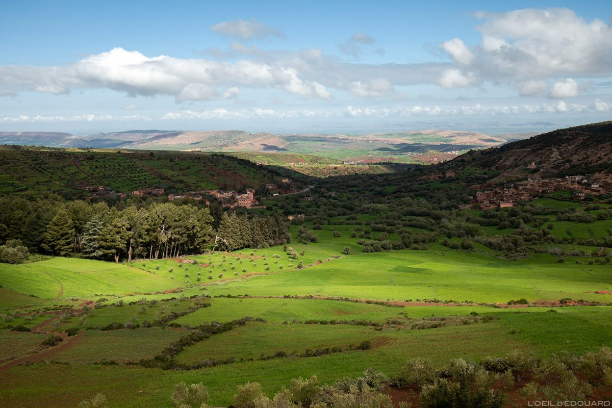 A paisagem do vale verde, Aït Barka, Marrocos