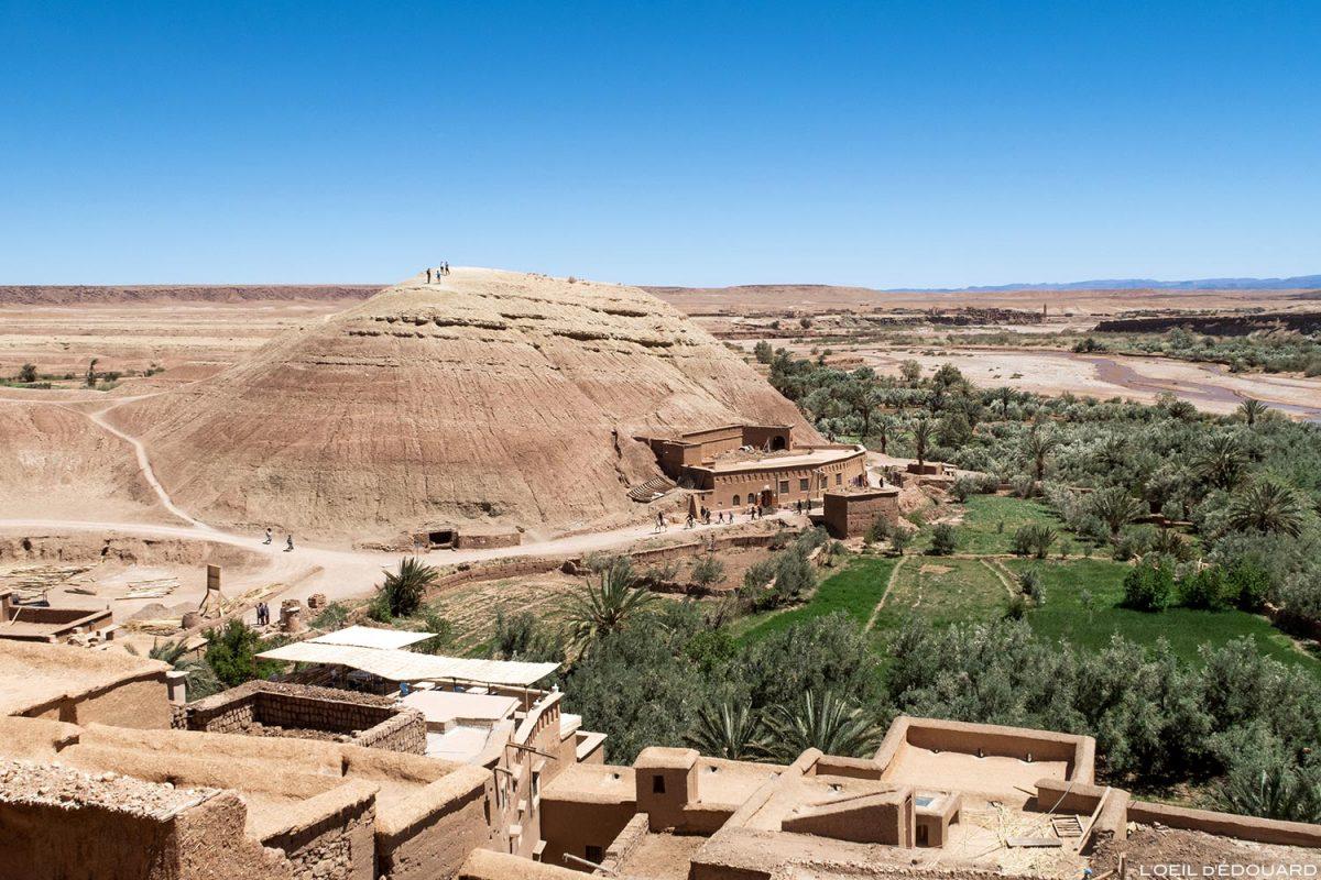 Ksar Ait Ben Haddou no deserto marroquino, perto de Ouarzazate