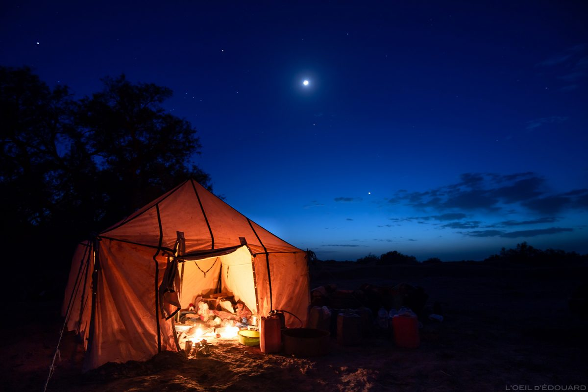 Acampamento saharaui no deserto marroquino - Desert Melody Trek © L'Oeil d'Édouard