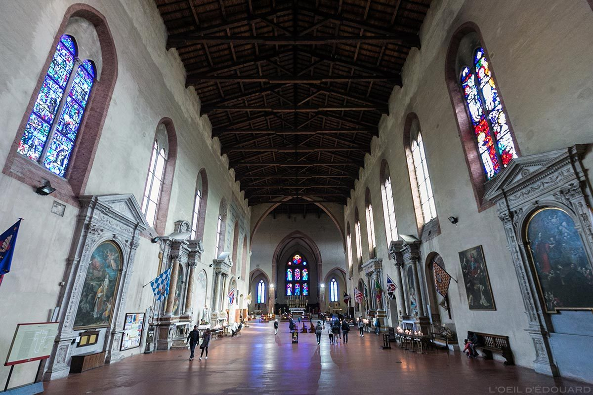 Interior Nave Basílica de San Domenico em Siena - Interior de San Domenico e Basílica Cateriniana di San Domenico, Siena