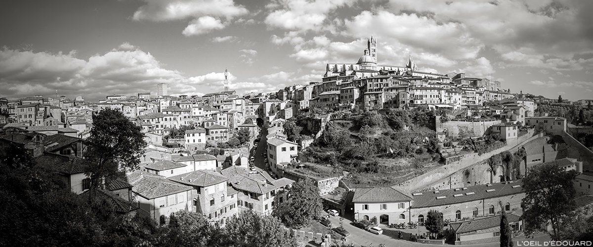 Vista fotográfica da cidade de Siena, Toscana, Itália / Vista da cidade de Siena, Itália - blog de viagem Trace Ta Route