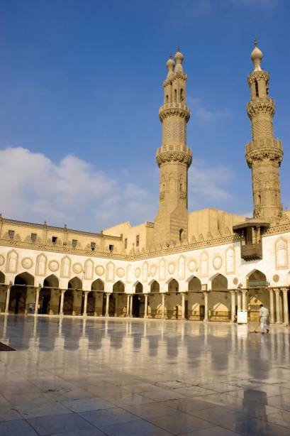 Pátio da Mesquita Al-Azhar no Cairo