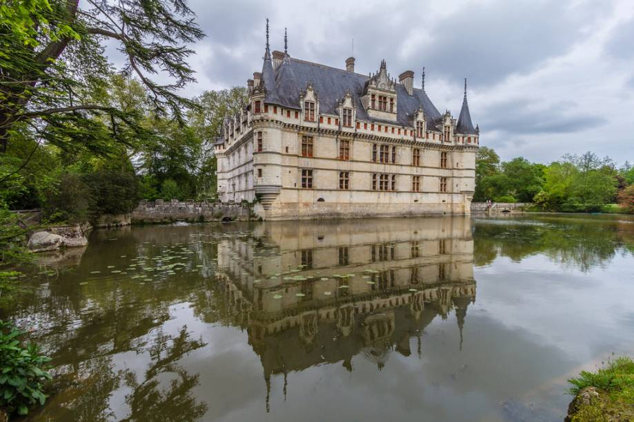 Château d'Azay-le-Rideau mochila mas belos do Vale do Loire