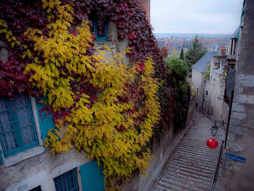 Aspecto das ruas de Blois
