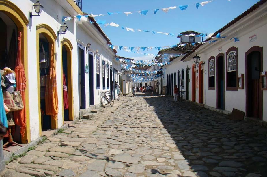 Casas coloniais em Paraty, litoral sul do Rio de Janeiro