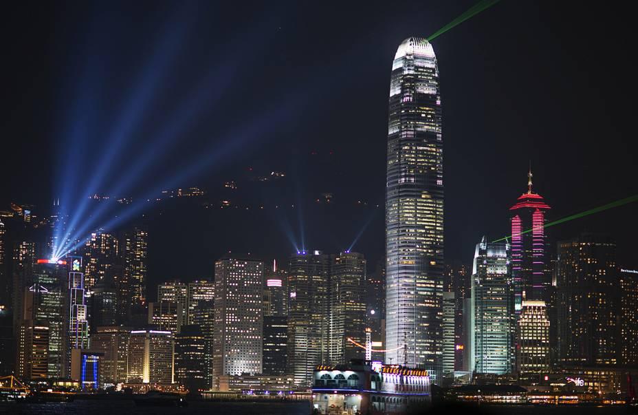 O horizonte de Hong Kong é um dos mais impressionantes do mundo.