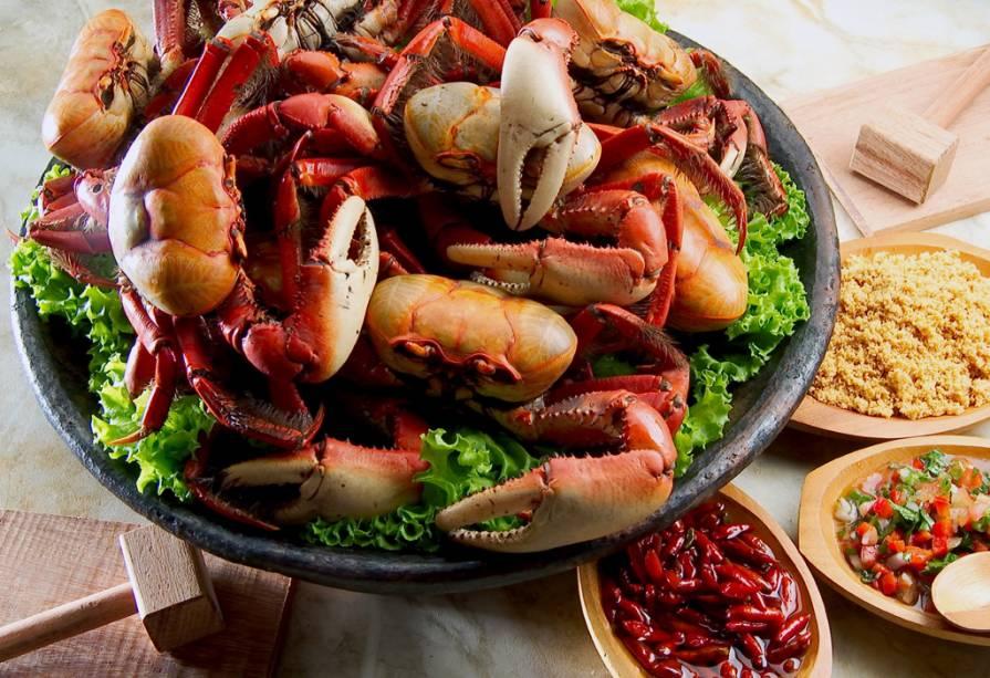 O caranguejo capixaba é um dos pratos típicos de Vitória