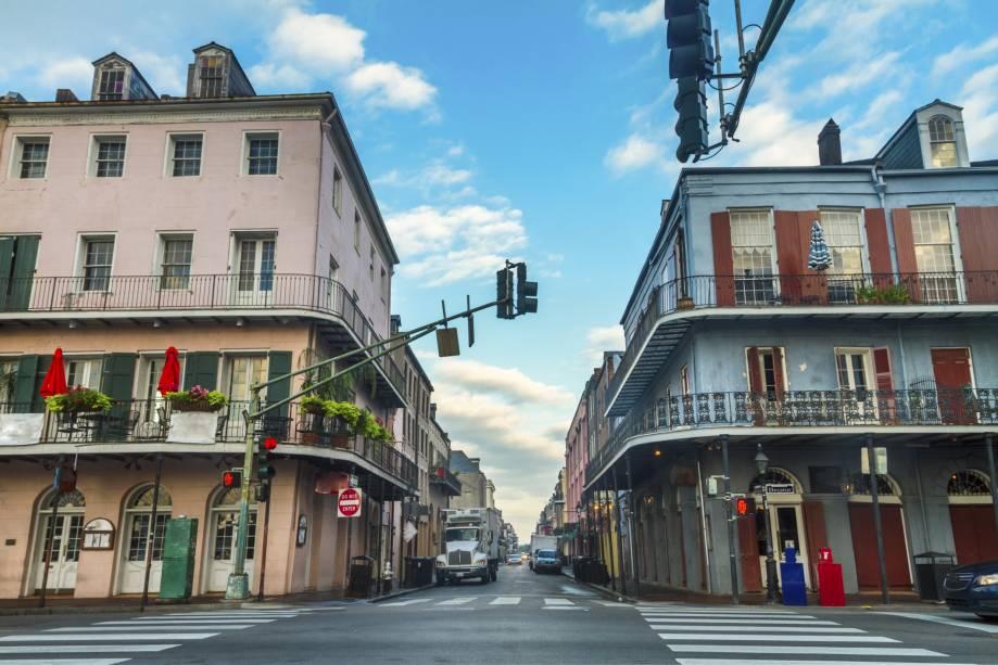 O distrito central de New Orleans é conhecido como French Quarter