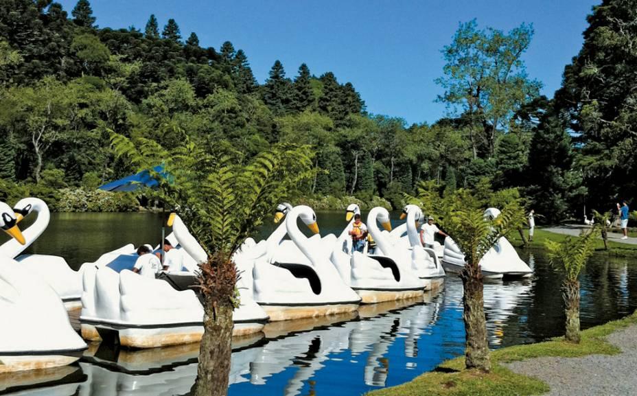 Pedalo no Lago Negro em Gramado