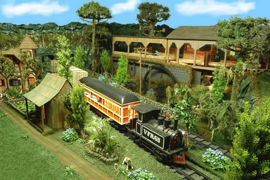 Mundo encantado em Gramado, Rio Grande do Sul, com miniaturas de Gramado e Jerusalém