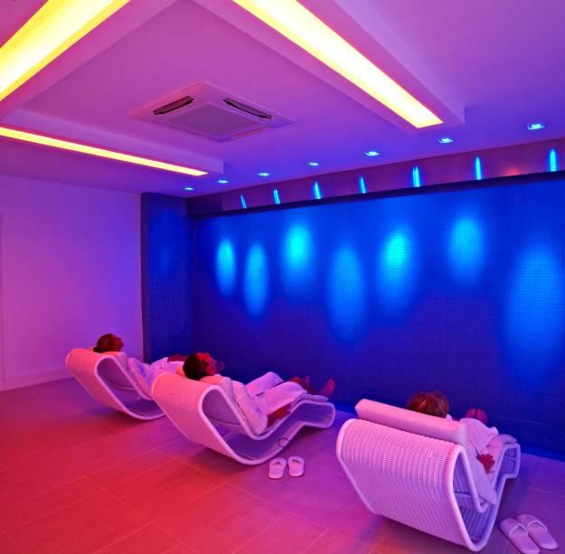 Kurotel das Águas e SPA, a sala de relaxamento Kurotel, o centro de longevidade e o spa com day spa para não hóspedes