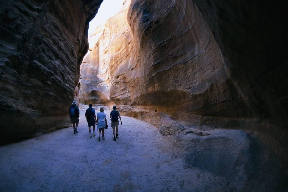 Desfiladeiro Al Siq em Petra