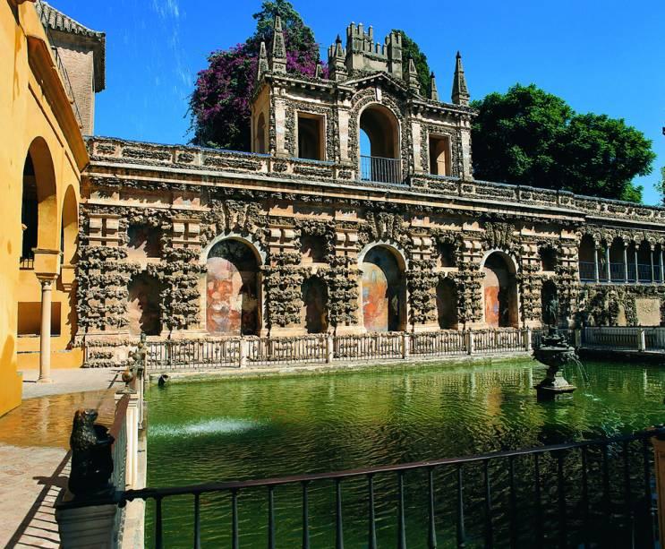 A origem do Real Alcazar, um complexo de palácios em Sevilha, remonta ao primeiro califa andaluz Abd al-Rahman II