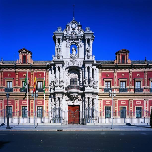 O Palácio de San Telmo foi construído em 1682 para treinar oficiais da Marinha Espanhola