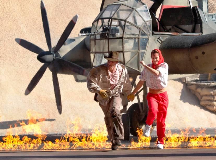 Indiana Jones Epic Stunt Spectacular, um show de dublês de animação nos estúdios de Hollywood
