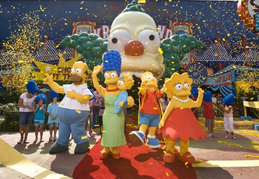 Desde 2008, The Simpsons Ride no Universal Studios leva os visitantes em um divertido passeio pelo fictício parque de diversões Krustyland.  Este é um simulador de imagem de super alta resolução onde os visualizadores têm problemas junto com Homer and Company
