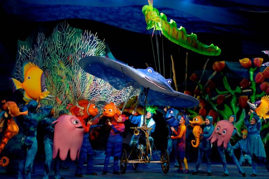 """musical """"Procurando Nemo"""", sem reino animal"""
