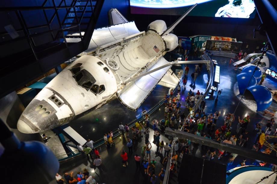 O ônibus espacial Atlantis voou 200 milhões de quilômetros antes de chegar ao Centro Espacial Kennedy