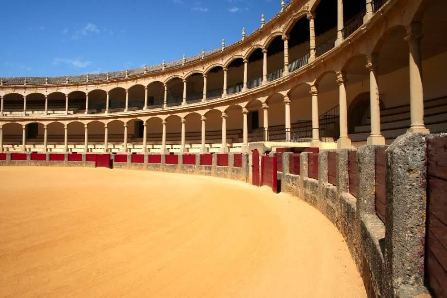 Arena de Toros de Ronda, Andaluzia, onde muitos acreditam que a tourada moderna tomou sua forma atual