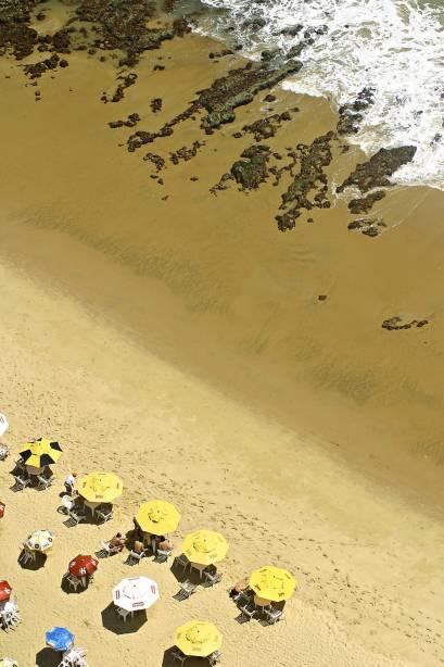 A Praia do Meireles é a parte mais movimentada da Avenida Beira-Mar