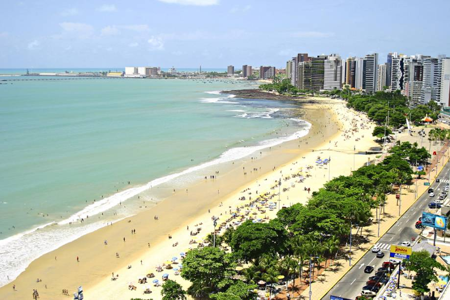 Vista aérea da Praia do Meireles