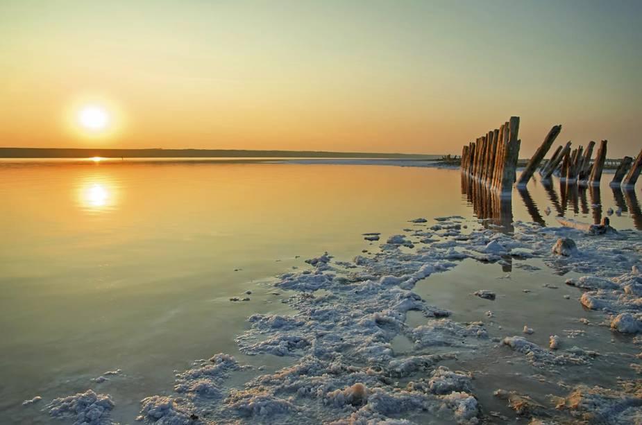 Pôr do sol sobre o Mar Morto