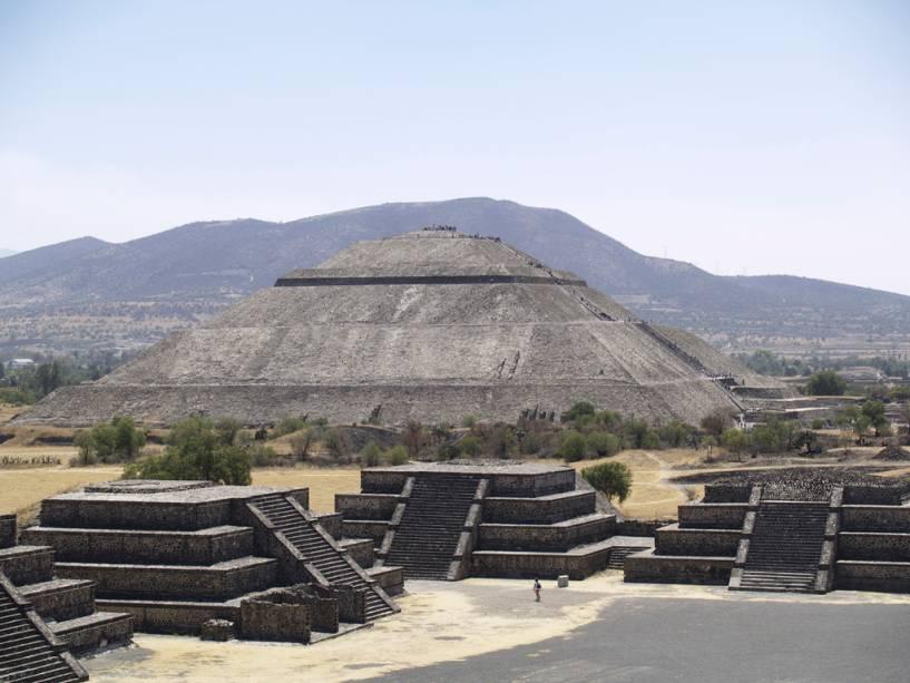 As ruínas de Teotihuacán, cidade fundada no século 2 aC, abrigam a gigantesca Pirâmide do Sol