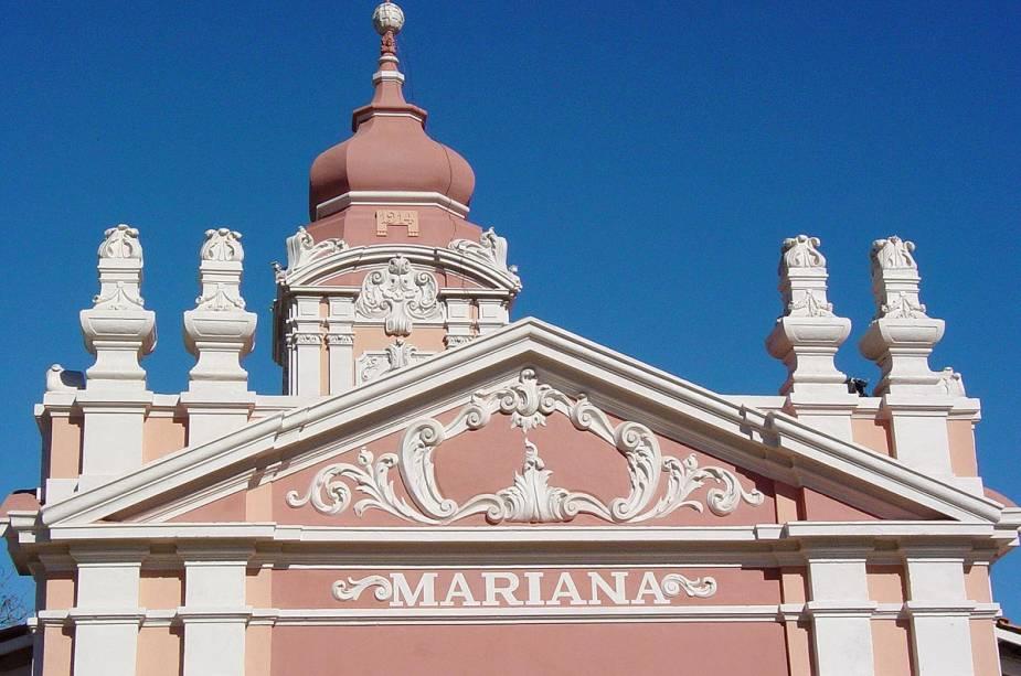 Fachada de um dos prédios históricos de Mariana (MG)