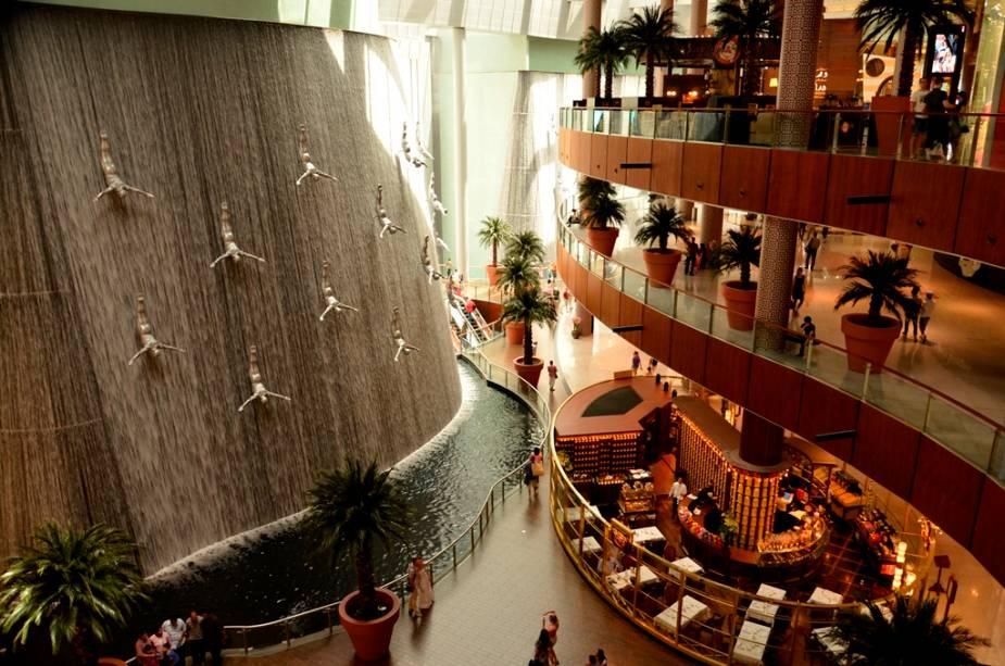 Excelente Dubai Mall sem cachoeira