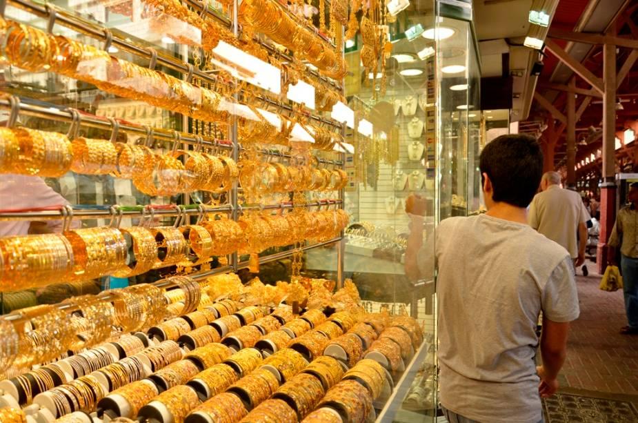 O mercado de ouro Gold Souk é uma das principais atrações de Deira