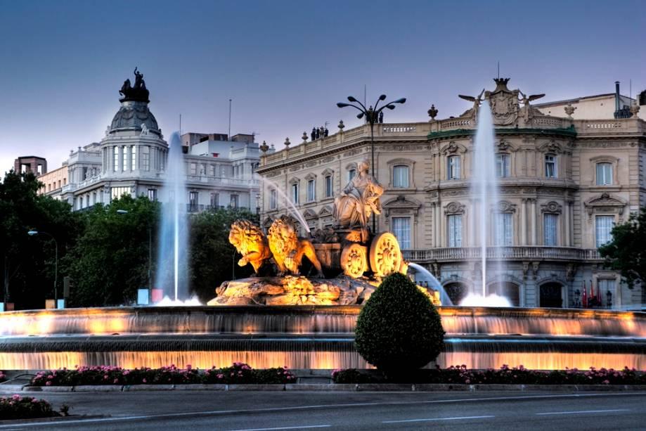Fonte das Cibeles no centro de Madrid