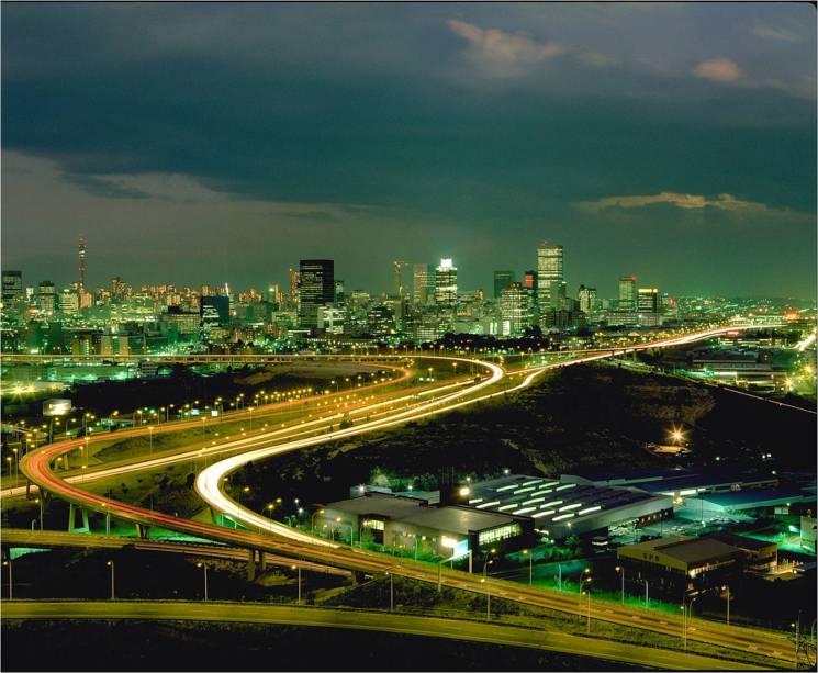 Vista aérea de Joanesburgo, a capital econômica da África do Sul, onde vivem 8 milhões de pessoas