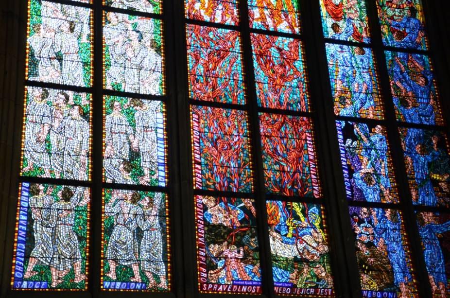 Vitral na Catedral de São Vito, Castelo de Praga
