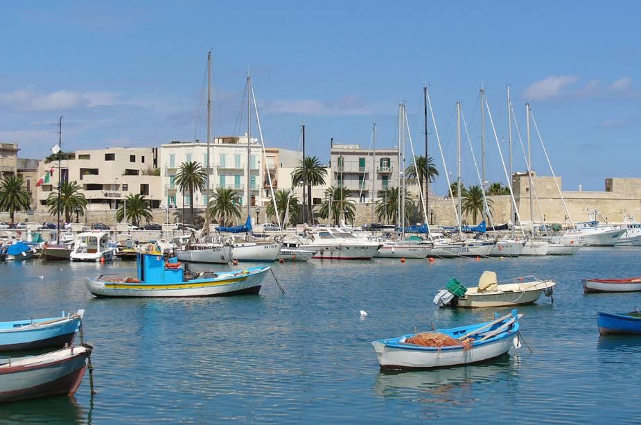 Porto da cidade de Bari, na região de Puglia, Itália
