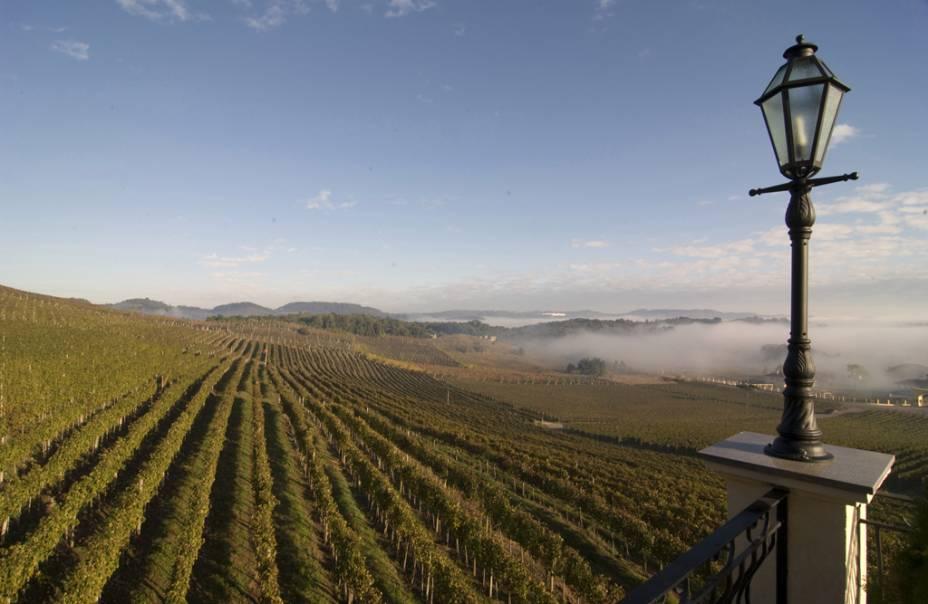 Adega e vinhas Miolo, paisagem da Villa Europa Hotel & Spa des Caudalie Vinoterapia, Vale dos Vinhedos, em Bento Gonçalves