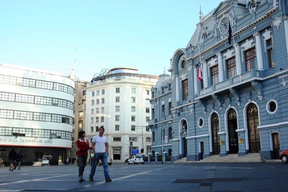 Quartel-general da Marinha do Chile, uma das atrações da cidade portuária de Valparaíso
