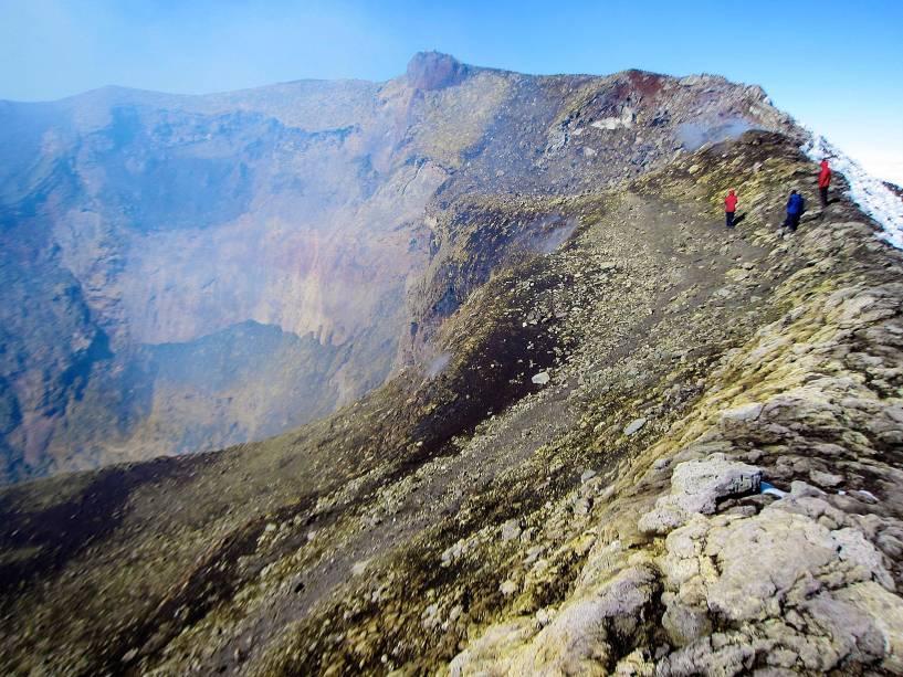 Excursão à cratera vulcânica de Villarrica