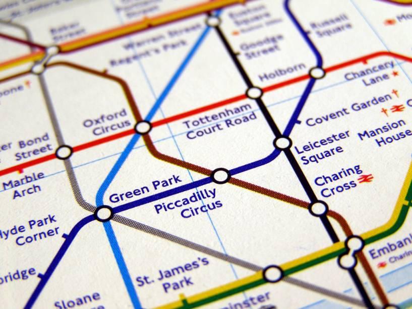Mapa do metrô de Londres