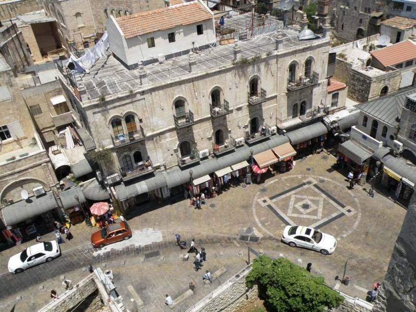 Detalhe da cidade velha, próximo ao Portão de Jaffa