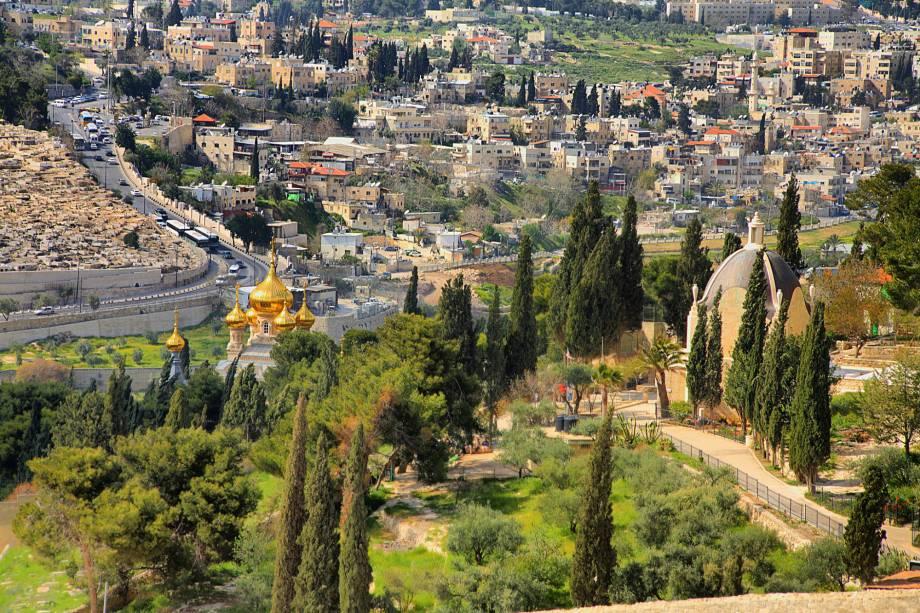 Vista de Jerusalém do Monte das Oliveiras