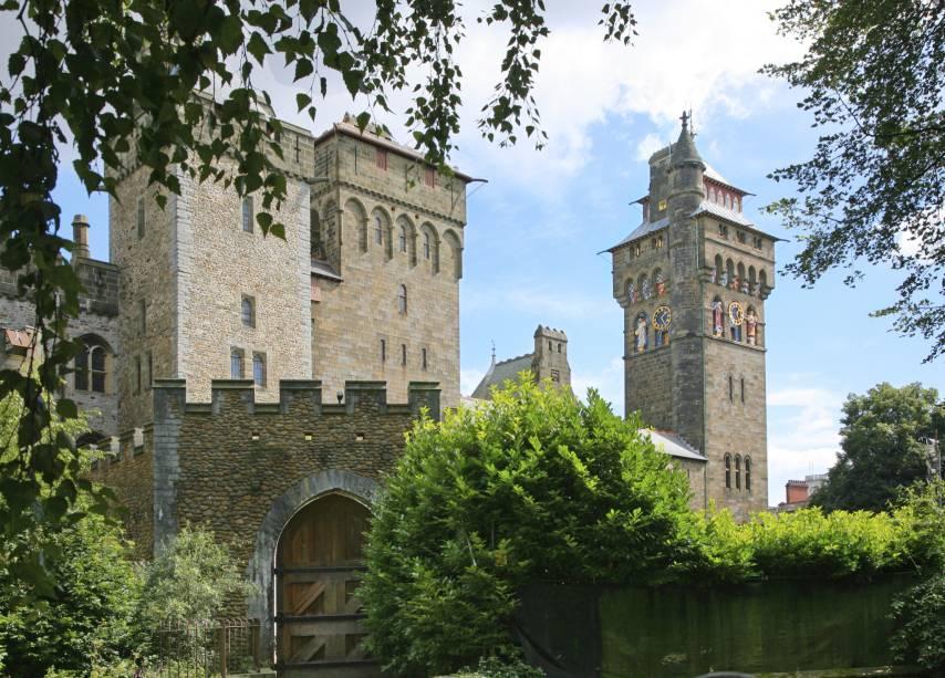 O Castelo de Cardiff é um edifício medieval histórico que remonta à era vitoriana do século 11.  É considerada um dos principais pontos turísticos da cidade e está rodeada pelo belo Parque Bute, onde antigamente aconteciam shows e shows.