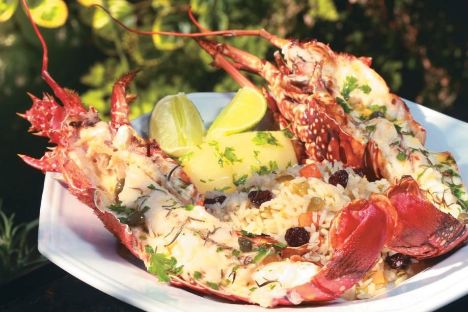 Lagosta grelhada, prato do restaurante Guaramare, eleita a melhor do litoral sul pelo júri da Veja Espírito Santo Eat and Drink 2011/2012