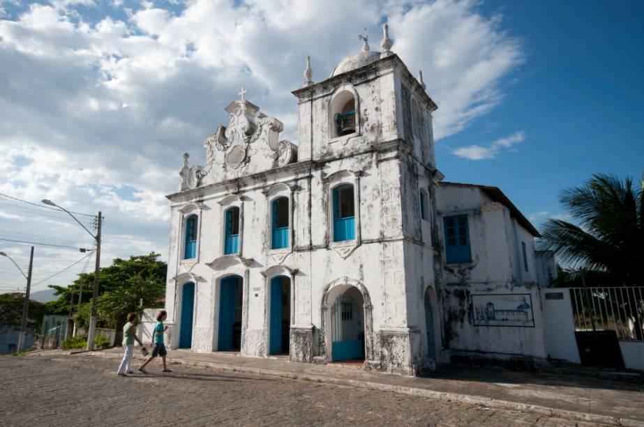 A antiga Matriz foi construída sob a direção do Padre Anchieta e foi residência dos Jesuítas