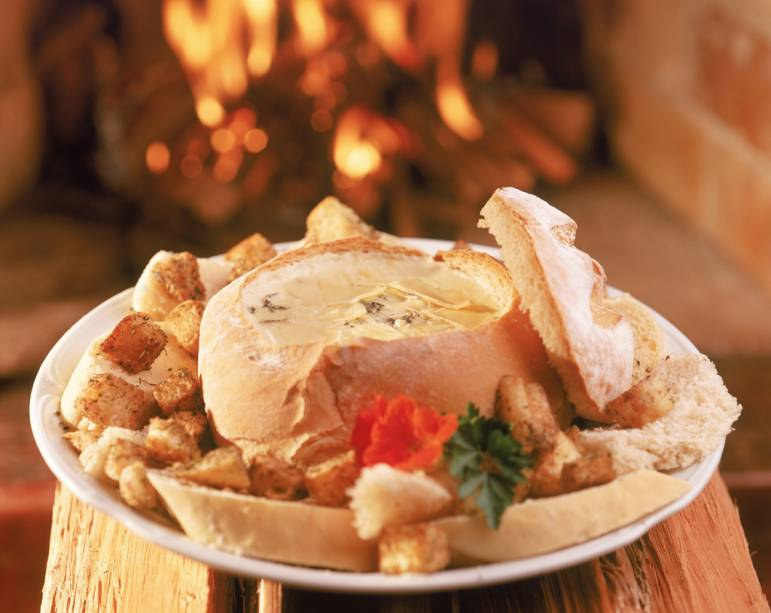 Sopa de queijo do restaurante Terra da Luz, na rua Maringá